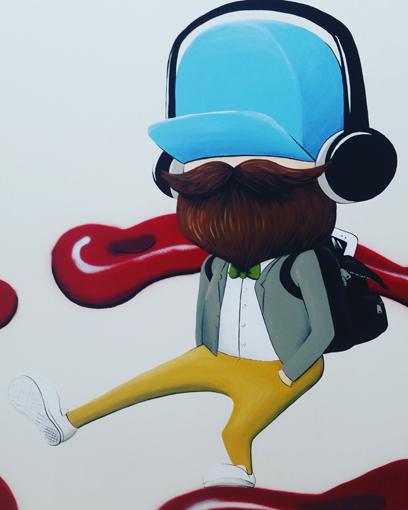 Blue Hat Hipster