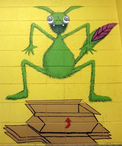 Cardboard Jumping Monster