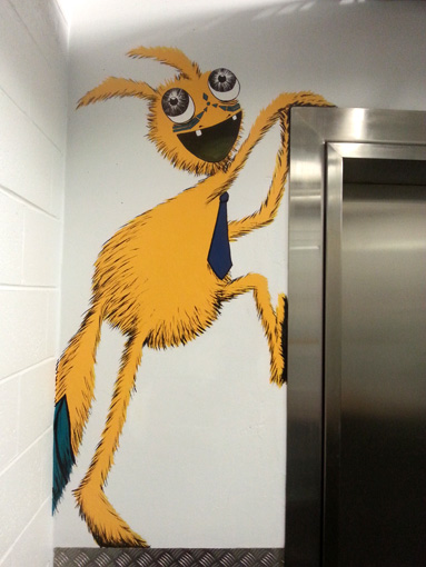 Yellow Elevator Climbing Monster