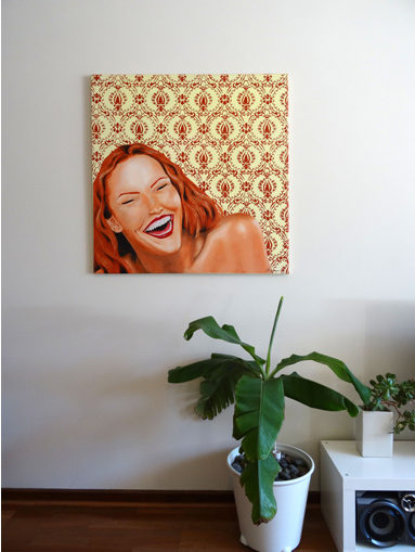 Laughing Girl (on wall)