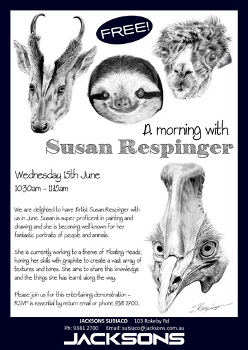 A morning with Susan Respinger Flyer